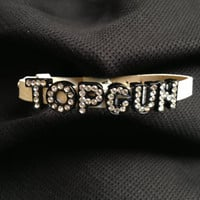Top Gun bracelet  or any letters you want to make a rhinestone bracelet(Cheer/World Class Athletes)