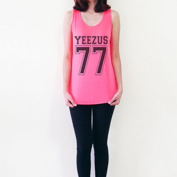 Yeezus Shirt Kanye West Tank Top Hip Hop Rapper Shirts Women T-Shirt Girls Hipster Tops