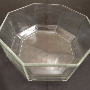 Arcoroc Clear Octagon Bowl made in France by baublesandblingforu