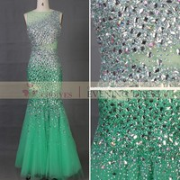 alibaba 2015 wedding dresses tulle high neck sleeveless sequined mermaid long rainbow beaded prom dress with low back, View beaded prom dress with low back, Choiyes Product Details from Chaozhou Choiyes Evening Dress Co., Ltd. on Alibaba.com