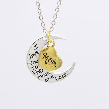 Mother & Daughter I Love You to the Moon and Back Necklace