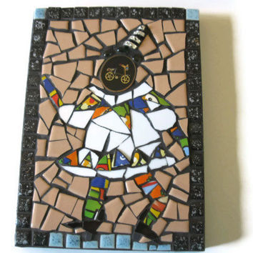 Clown Harlequin Mosaic wall hanging Mixed Media Home Decoration Broken China Ceramic tiles