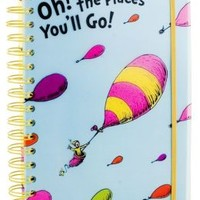 Dr. Seuss Oh, the Places You'll Go! Polypro Lined Spiral Journal 6.5