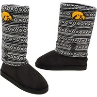 Iowa Hawkeyes Ladies Retro Boots - Black/White