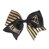 "Licensed cool 7"" Harry Potter Deathly Hallows ALWAYS Cosplay Cheer Hair Bow Pin Clip Dress-Up"