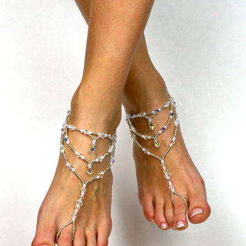 Bridal Jewelry Swarovski Barefoot Sandals