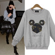Camo Vintage Mouse Print Sweater