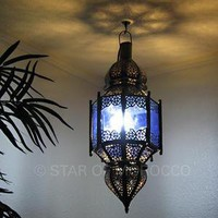 Moroccan Colored brass Lanterns