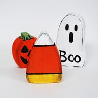Handmade Wood Halloween Candy Corn Home Accent Decoration