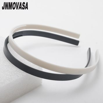 Free Shipping 2pcs Black white Plastic Teeth Hair Band Headbands  8mm wide Jewelry Findings hair accessory diy tools
