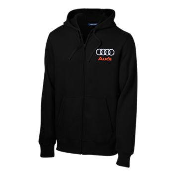 Audi Tall Embroidered Zip Up Hooded Sweatshirt