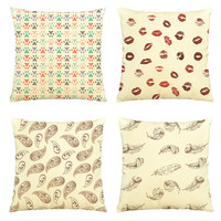 Vintage Style-100% Cotton Decorative Throw Pillows Cover Cushion Case VPLC_03