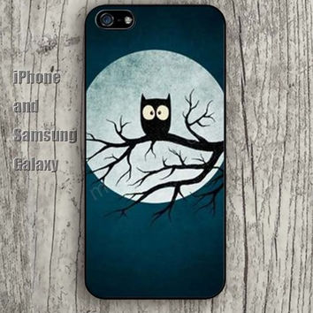 Owl tree of the night iphone 6 6 plus iPhone 5 5S 5C case Samsung S3,S4,S5 case Ipod Silicone plastic Phone cover Waterproof