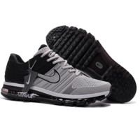 NIKE AIR MAX Fashion Sport Casual Shoes Sneakers black-grey hook H-CSXY