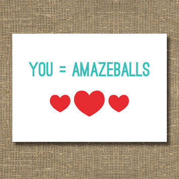 You're Amazeballs Greeting Card by RockCandieDesigns on Etsy