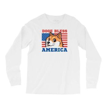 doge bless america Long Sleeve Shirts