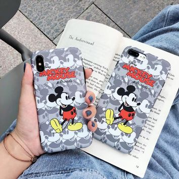 maosenguoji cute cartoon mickey mouse funny Mobile Phone Case for iphone 6 6s 6plus 7 7plus 8 8plus X 10 XR XS MAX fashion case