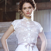 WILD ORCHID silk and tulle wedding dress, gown