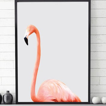 Flamingo print, flamingo wall art, poster printable, wall art printable, modern art print,contemporary print, printable art, modern wall art