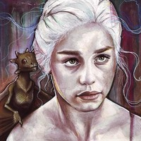 """Daenerys Targaryen - Game Of Thrones"" - Art Print by Olga Shvartsur"