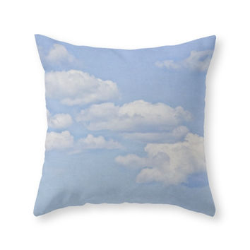 Society6 Clouds Throw Pillow
