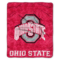 Ohio State Buckeyes NCAA Sherpa Throw (Jersey Series) (50in x 60in)