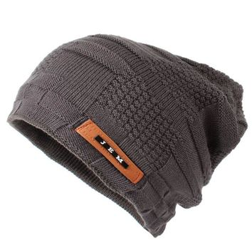 Sports Hat Cap trendy  Outdoor Ski Sports Winter Hat Beanies Knit Caps Skullies Bonnet Hats For Women Men Mask Double Layer Warm Knitted Beanie Cap KO_16_1