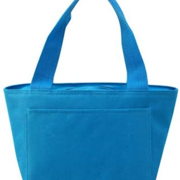 Insulated Cooler Tote Lunch Bag (Turquoise) - CASE OF 24