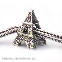 Eiffel Tower Landmark Bead Sterling Silver LM001