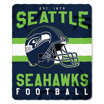 "Seahawks OFFICIAL National Football League, ""Singular"" 50""x 60"" Fleece Throw  by The Northwest Company"