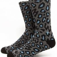 Odd Future, Domo Cheetah Sock - Grey - Odd Future - MOOSE Limited