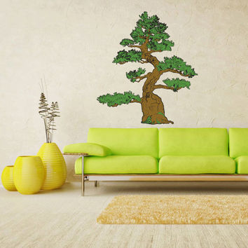 Full Color Wall Decal Mural Sticker Art Asian Japan Japanese Tree Bonsai (col185)