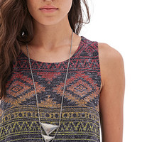 FOREVER 21 Southwestern Chic Muscle Tee Charcoal/Multi