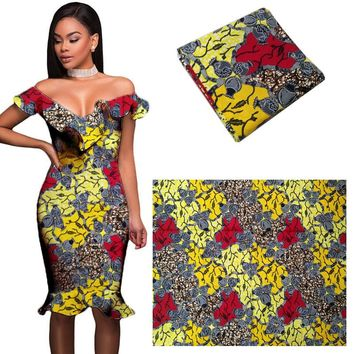 African wax fabric African wax dress material African wax cloth 6yards high quality fashion 2017 new design ankara fabric