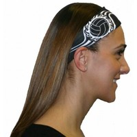 SVF Neon Tribal Volleyball Headbands (Black, One Size )