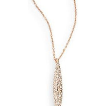 Alexis Bittar Miss Havisham Crystal Short Spear Necklace Rose Gold