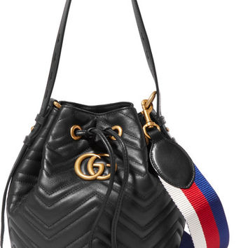 Gucci - GG Marmont quilted leather bucket bag