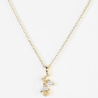 Urban Outfitters - Rhinestone Love Necklace