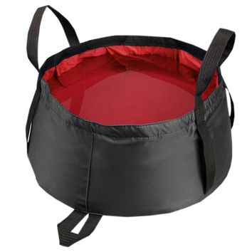 Red All Purpose Utility Bucket Camp Pail Collapsible Sink Foldable Can, 8.5L