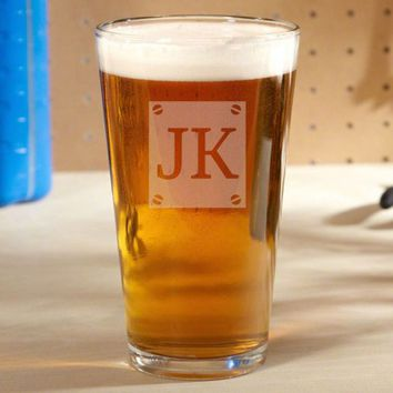 Screw & Brew Personalized Beer Glass