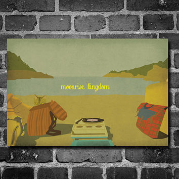 Moonrise Kingdom poster wes anderson poster giclee movie art minimalist poster geekery art print sci fi print Wes Anderson home decor