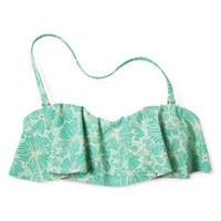 Xhilaration® Junior's Floral Hanky Swim Top -Honeydew