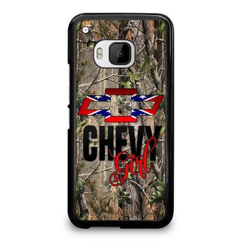 CAMO BROWNING REBEL CHEVY GIRL  HTC One M9 Case Cover