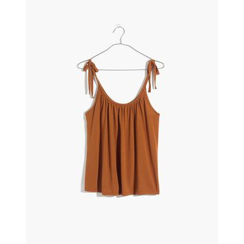 Gathered-Neck Tank Top : shopmadewell tanks | Madewell