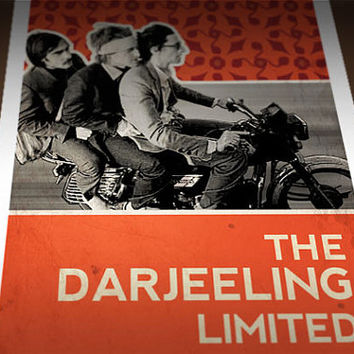 Darjeeling Limited Poster, Wes Anderson Poster 9x24 Darjeeling Limited Movie Poster Art Print