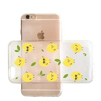 Cute Pineapple Pattern Transparent Vlear Rubber Jelly Plastic Phone Case for Iphone_ SUPERTRAMPshop (VAS1443, iphone 7/8)