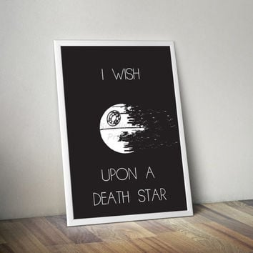 Star Wars Death Star minimalist poster, 8x10, 11x14, 13x19
