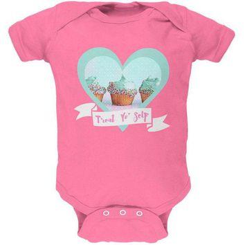 ONETOW Treat Yo Self Cupcakes Soft Baby One Piece