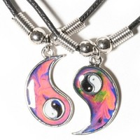 Mood Yin and Yang Friendship Necklace Set