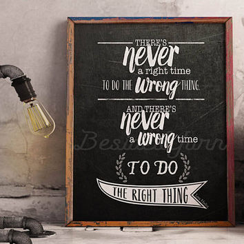 Do the Right Thing, Motivational Quote, Motivational Print, Classroom Sign, Kindergarten Print, Inspiring Classroom Quote, Classroom Poster